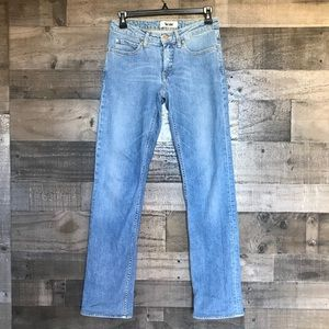 Acne Hep Straight Leg Cotton Stretch Jeans